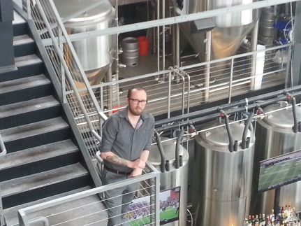 Ladies and gentlemen, here's Ryan, our Bluejacket brewery tour guru and co-owner of the space for the next 30 years.