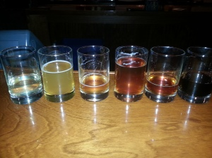 The barrel-aged beers on the tasting list. It's pretty easy to tell what I thought of each one.