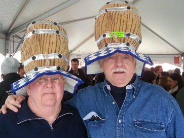 It is vital to keep your head covered and warm at a winter beer festival.