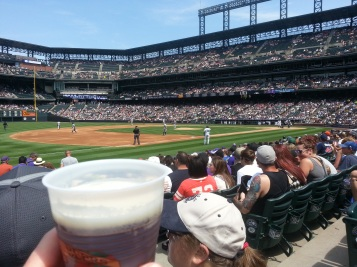 Enjoying the 90 Shilling Ale while watching the Rockies and Brewers.