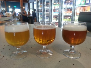 Tasting the IPAs on tap at New Belgium.
