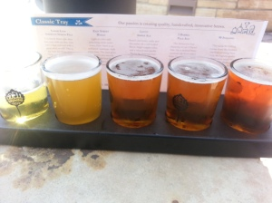The Classic Tray at Odell Brewing was mostly pale ales.