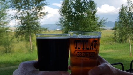 Nothing quite like sitting a a brewery and enjoying the mountains that are less than 30 minutes away.