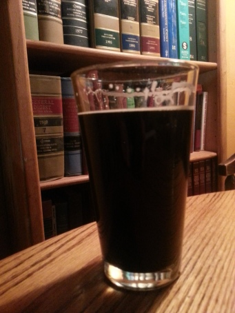 Honest, mom, I'm at the Library. Here I am studying the Steamboat Oats & Cream Stout.