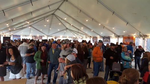 The craft beer fans at the Big Sky Beerfest decided close quarters meant warmer.