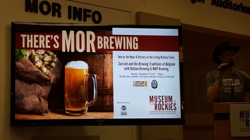 The Museum of the Rockies, aka MOR, was kind enough to invite me to learn about session beer while allowing me to toss back a few at the same time and ask