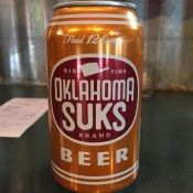 Oklahoma Sucks beer